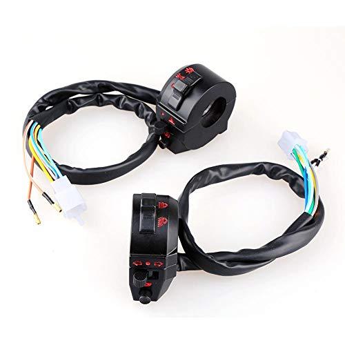Interruptor manillar moto, interruptores para manillas de 22 de moto, mando de luces moto, Interruptor de luces de giro alto/bajo y bocina