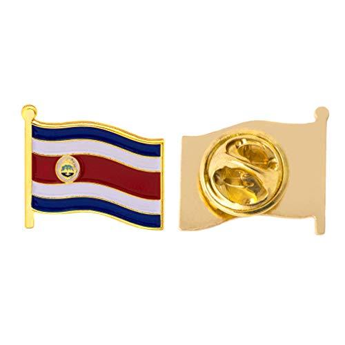 Costa Rica Anstecknadel mit Landflagge, Emaille, Souvenir, für Herren & Damen, Patriotische Flagge, Revers-Anstecknadel