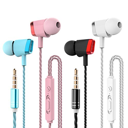 4 Packs Earphones, CBGGQ Noise Isolating In-Ear Headphones with Pure Sound...
