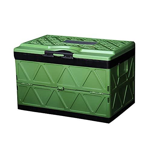 Caja De Almacenamiento Plegable con Tapa, 200 Kg De Capacidad De Carga, 48 ML De Gran Capacidad, Puede Almacenar Juguetes De Recuerdo (Campo De Batalla Verde Anillo Negro)