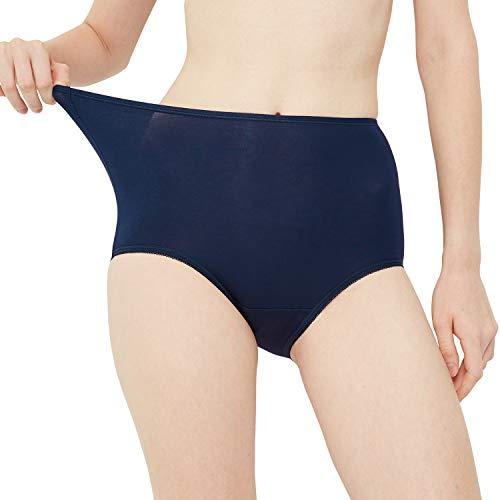 INNERSY Damen Slips Mehrpack Unterhosen Hoher Bund Übergröße Maxi Pants Unterwäsche 5er Pack (XL-EU 44, Mehrfarbig)