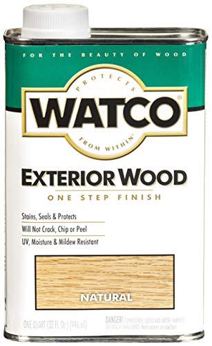 RUST-OLEUM WATCO 67741 Exterior Wood Finish, 1 Quart