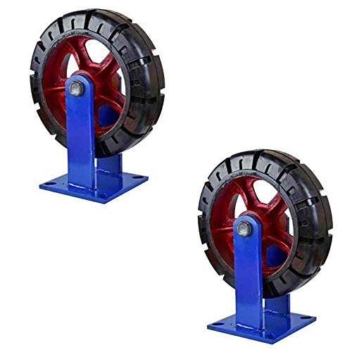 PIVFEDQX Casters (Two) 10 inch heavy duty rubber universal wheel super heavy duty 12 inch nylon wheel thick anti-skid industrial bearing capacity