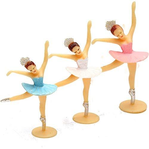 DIVISTAR 3 Pieza - Bailarina Rosa decoración bebé Decoraciones Regalos Bailarinas Belleza Ducha bebé Favors Dancing Party Mini Girl