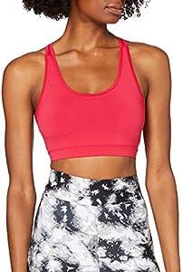 Marca Amazon - AURIQUE Sujetador Deportivo Bajo Impacto Tirantes Yoga Mujer, Rosa (Love Potion), XS, Label:XS