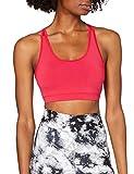 Marca Amazon - AURIQUE Sujetador Deportivo Bajo Impacto Tirantes Yoga Mujer, Rosa (Love Potion), S, Label:S