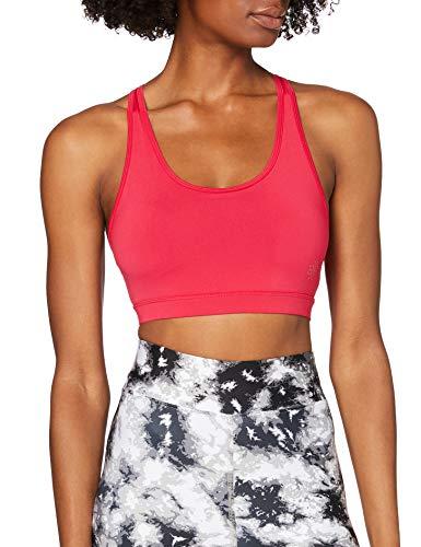 Amazon-Marke: AURIQUE Damen Sport BH für leichten Halt, Kräftiges Rosa, M