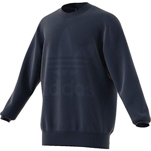 adidas Velour Crew Sweatshirt, Herren L Blau (Maruni)