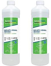 ferdoclean® Bio Ultrasoon Reiniger Concentraat 2 x 1000ml   Ultra Sonic Cleaner voor het voorzichtig reinigen van beugels, gebitsproducten, brillen, goud, zilver en nog veel meer