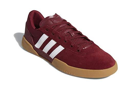 adidas Hombre City Cup Zapatos de Skateboarding Rojo, 47 1/3