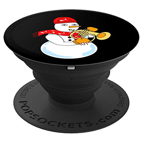 Flugelhorn Snowman PopSockets Grip and Stand for Phones and Tablets