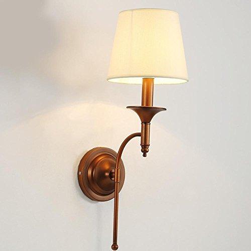 Lampes murales modernes Ensemble mural rustique de salon simple Lampe murale en tissu blanc Lampshade pour la salle d'étude, 1 lumières