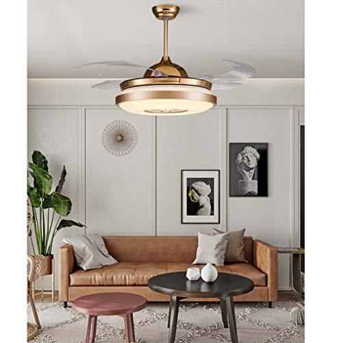 Kaper Go - Lámpara de techo invisible para el hogar, silenciosa, moderna, moderna, para el hogar, el restaurante, el techo, el ventilador de pared, 49 de diámetro x 40 cm de altura