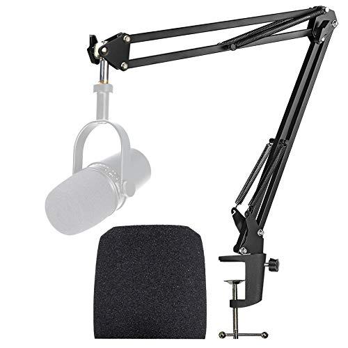 Shure MV7 Soporte de Micrófono con Parabrisas de Espuma que Mejora la Calidad del Sonido para el Micrófono Shure MV7 USB Podcast por YOUSHARES