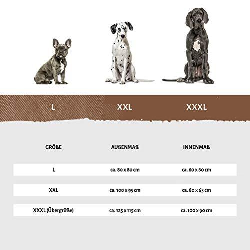 Knuffelwuff 12664 Hundebett Dooly – Größe L, 80 x 75 cm sehr weich gepolstert - 4