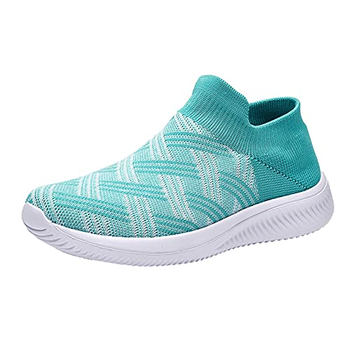 Fitzac Damenschuhe Flache Sportschuhe Casual Damenschuhe Socken Schuhe Atmungsaktive Schuhe Damenschuhe Kletterschuhe 2021, mintgrün, 38