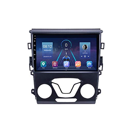 Android 9.0 Doble Din Head Unit Coche Estéreo Para Ford Mondeo 2012 2013 2013 GPS Navegación Pantalla Táctil Multimedia Player Radio Receptor Carplay DSP RDS(Size:Cuatro nucleos,Color:WIFI:1+16G)