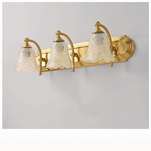 lámpara de pared Vanity Bathroom Light Lighture 3 Lights Rustic Wall Sconce Iluminación con clara Sombra de vidrio Vintage Pórchón Lámpara de pared Dormitorio Sala de estar Iluminación de pared