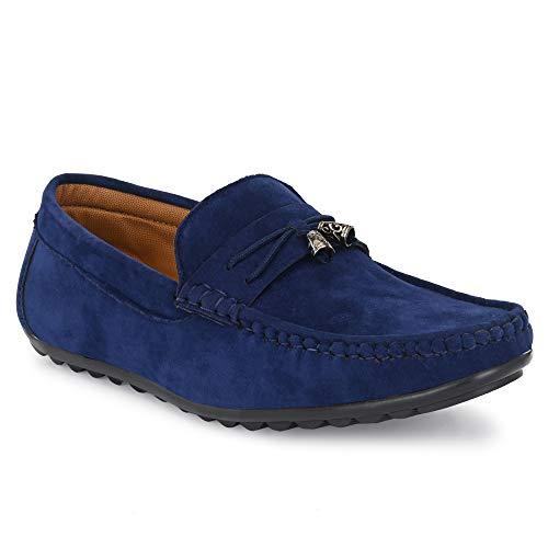 Afreet 78 Jingle Bell Loafer Shoes for Men Navy 6