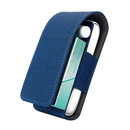 Funda IQOS 3, 3 Duo para cigarrillo electrónico, estuche con gancho y 3 ranuras para accesorios en diferentes colores (azul)