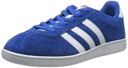 adidas Neo VLNEO Court Zapatillas Sneakers Cuero Gamuza Azul para Hombre