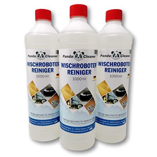 PANDACLEANER® Wischroboter Reinigungsmittel -3000ml (3x1l) Premium Reinigungsmittel für Bodenwischer - Bodenreiniger Konzentrat