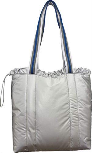 Sondra Roberts Nylon Tote Bag, Silver