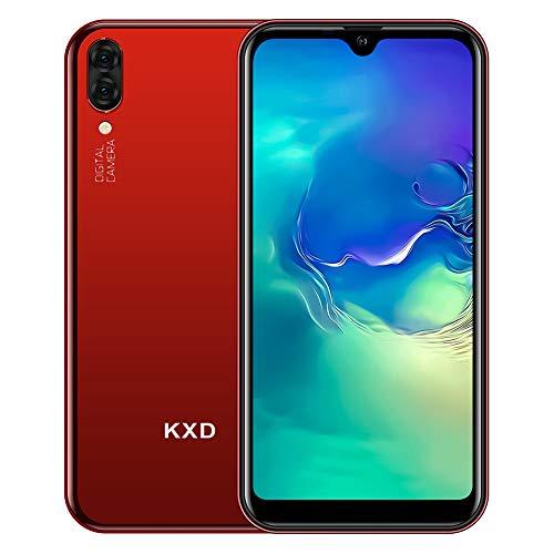KXD A1 - Smartphone Android sin contrato (Dual SIM, 16 GB de memoria (128 GB ampliable), pantalla IPS 3 en 1, ranura de 5 MP, cámara de 5 Mpx, versión global, color rojo