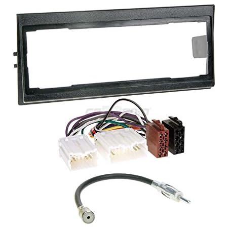 Volvo 940/Original Plug /& Play Quality 92-96/Single DIN Car Radio Installation Set Includes Aerial Adaptor Radio Connection Cable and Radio Fascia//Frame Black