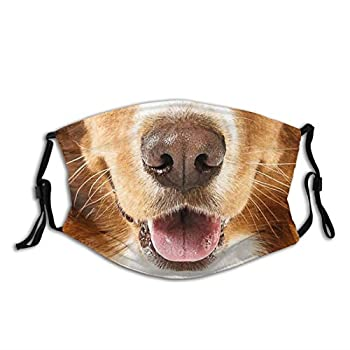 Animal Face Mask Funny Dog Animal Mask Balaclavas Dustproof-Washable& Reusability With 2 Filters