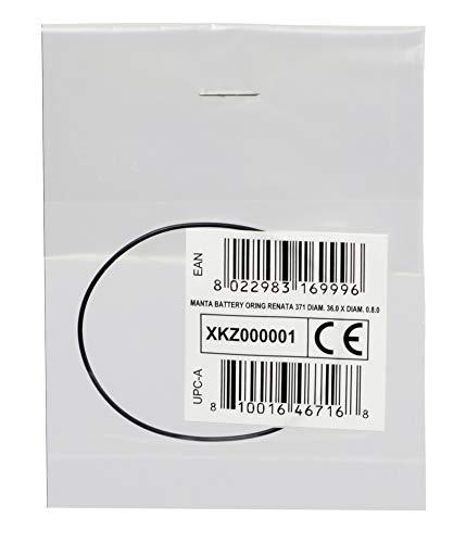 Cressi Unisex-Adult Manta Battery Oring Renata 371 36.0 X Diam. 0.8.0 O-Ring Uhr Gehäuseboden, Schwarz, Ø36.0 X Ø0.8.0