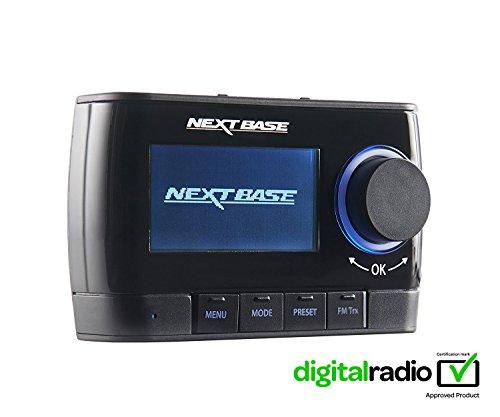 Nextbase Adapt DAB250 – DAB Plus Adapter für Digital-Radio & DAB+ Auto-Radio Tuner & Empfänger mit integriertem FM Transmitter – mit Halterungen, Kabel & aktiver Scheiben-Antenne