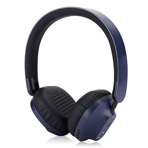 Draadloze Bluetooth-hoofdtelefoon, opvouwbare draadloze Bluetooth5.0-headset met lange Stanby-tijd + 40 mm dynamische luidspreker voor mobiele telefoon/computer(Blauw)