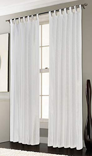 Thermo Ösen Vorhang mit Polar Fleece Rücken - 20500-350gr./m², Gardine Matt Verdunkelungsstoff Blickdicht. 245cm x 140cm (HxB), Weiß Schlaufen 20500, 20500