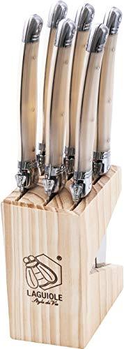 Laguiole Style de Vie Steakmesser Premium Line, 6-teilig, Perle