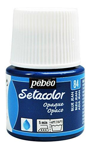 PEBEO Setacolor - Pintura para Tela (Opaca, 45 ml), Color Azul