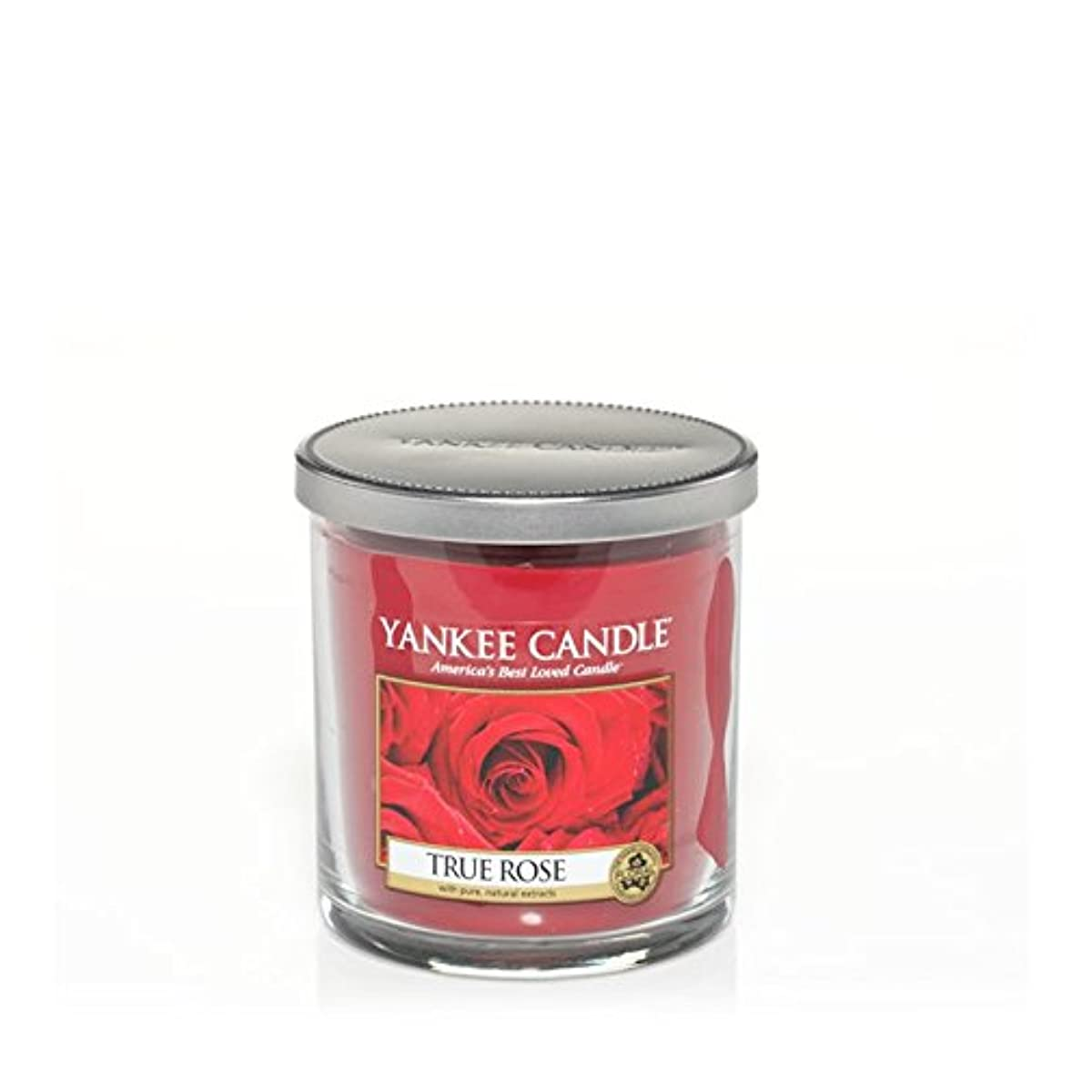 検査ヒロイック一Yankee Candles Small Pillar Candle - True Rose (Pack of 2) - ヤンキーキャンドルの小さな柱キャンドル - 真のバラ (x2) [並行輸入品]