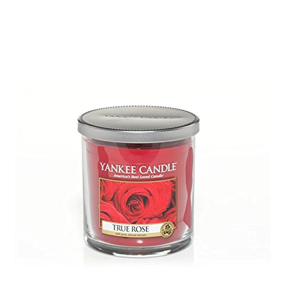 アウターバラ色着実にYankee Candles Small Pillar Candle - True Rose (Pack of 6) - ヤンキーキャンドルの小さな柱キャンドル - 真のバラ (x6) [並行輸入品]
