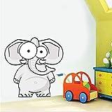hllhpc Etiqueta de la Pared del Cartel de la decoración Dibujos Animados de Elefantes a Todo Color para Las Habitaciones de los niños en Las Habitaciones de niños DIY calcomanías Homeation