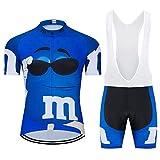 Traje de ciclismo para hombre con pantalones cortos acolchados de gel 20D para ciclismo y verano, conjunto de ropa para hombre divertido ciclismo Jerse