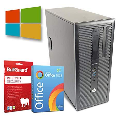 HP ProDesk 600-G1 Tower PC Computer | Intel Core i5-4590@ 4X 3,3 GHz | 8 GB | 500 GB HDD | DVD-Brenner | Windows 10 Pro | BullGuard | SoftMaker Office (Generalüberholt)