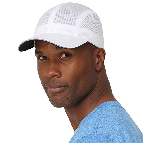 TrailHeads Race Day Performance Running Cap | The Lightweight, Quick Dry, Sport Cap for Men – 5 Colors - White