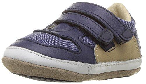 Robeez Boys Sneaker, Jaime Navy, 3-6 Months M US Infant