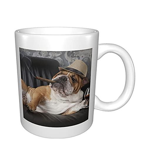 Tazas de cerámica para café, té, cacao, taza de café grande con mango para oficina y hogar, tazas de porcelana con estilo regalo para hombres y mujeres