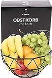 Chefarone Obstschale Metall - dekorativer Obstkorb Vintage Schwarz - Obst Aufbewahrung für mehr Vitamine in Ihrem Alltag