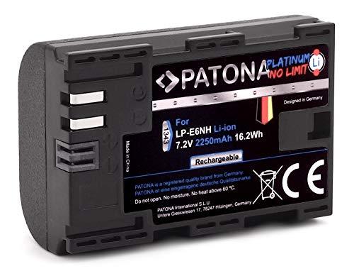 PATONA Platinum LP-E6NH Akku (2250mAh) Qualitätsakku mit Infochip - Intelligentes Akkusystem - neueste Generation