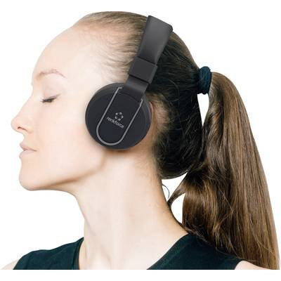 Renkforce RF-BTK-100 Bluetooth® HiFi On Ear Stereo-Headset On Ear Headset, Faltbar Schwarz, Grau