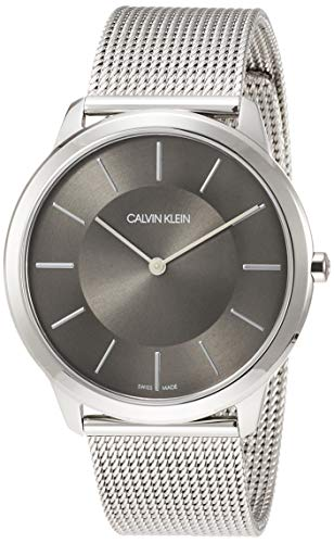 Calvin Klein Reloj Analógico de Cuarzo para Hombre con Correa de Acero Inoxidable - K3M21124