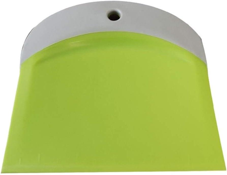 JYSLI Gesund Qualitäts-Plastik Sahne glatt Kuchen Spachtel Teigschneider Scraper Baking Pastry Werkzeug Küche Buttermesser Teigschneider Design (Color : Blue) Light Green