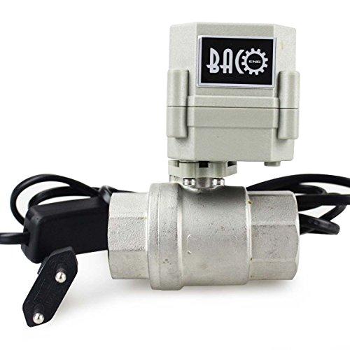 BACOENG 1 DN25 V/álvula Motorizada de Esfera de 2 V/ías de Acero Inoxidable de AC110//230V CR202 NC con enchufe